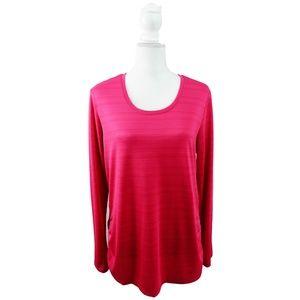 Danskin Now Athletic Top Size Large L Pink